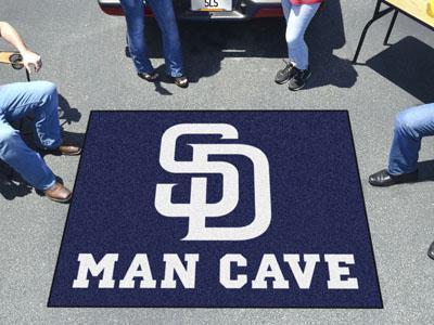 MLB - San Diego Padres Man Cave Tailgater Rug 5'x6'-Man Cave Tailgater-JadeMoghul Inc.