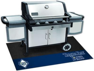 "BBQ Store MLB Tampa Bay Rays Grill Tailgate Mat 26""x42"""