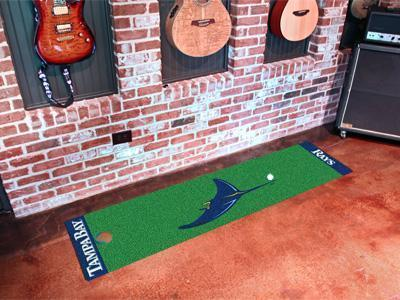 "Hallway Runner Rug MLB Tampa Bay Rays Putting Green Runner 18""x72"" Golf Accessories"