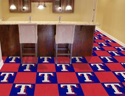 "MLB - Texas Rangers 18""x18"" Carpet Tiles-Team Carpet Tiles-JadeMoghul Inc."
