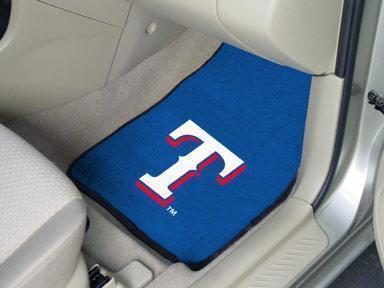 "MLB - Texas Rangers 2-pc Carpeted Front Car Mats 17""x27""-2-pc Carpet Car Mat Set-JadeMoghul Inc."