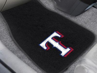 "MLB - Texas Rangers 2-pc Embroidered Front Car Mats 18""x27""-2-pc Embroidered Car Mat Set-JadeMoghul Inc."