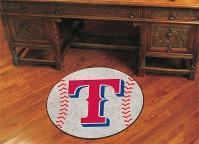 "MLB - Texas Rangers Baseball Ball Mat 27"" diameter-Baseball Mat-JadeMoghul Inc."