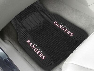 "MLB - Texas Rangers Deluxe Mat 21""x27""-2-pc Deluxe Car Mat Set-JadeMoghul Inc."