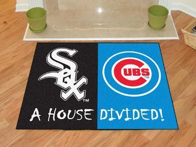 "MLB - White Sox - Cubs House Divided Rug 33.75""x42.5""-House Divided Mat-JadeMoghul Inc."
