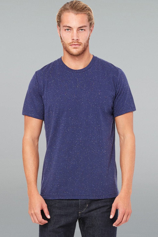 Mod Poly-Cotton Tee - Men-Men Short Sleeve Tops-XS-Navy Speckled-JadeMoghul Inc.