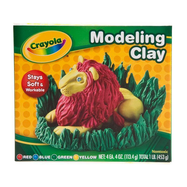MODELING CLAY 4 PCS RED BLUE GRN YW-Arts & Crafts-JadeMoghul Inc.