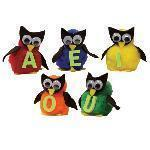 MONKEY MITT SET VOWEL OWLS-Childrens Books & Music-JadeMoghul Inc.