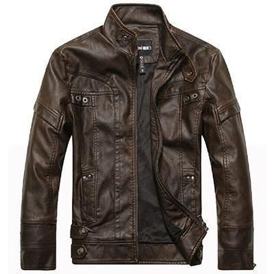 Motorcycle Wear Leather Jacket For Men / Leather Clothing For Men-Brown-M-JadeMoghul Inc.