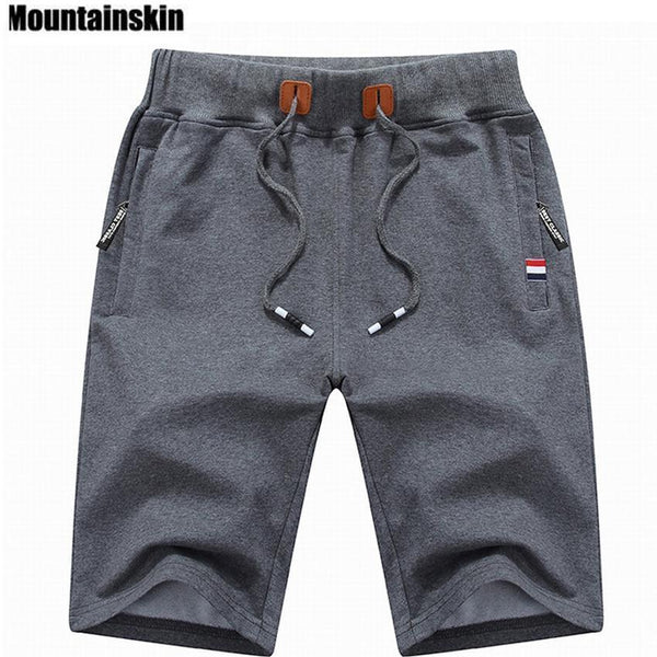 Mountainskin 2017 Solid Men's Shorts 4XL Summer Mens Beach Shorts Cotton Casual Male Shorts homme Brand Clothing SA210-Blue-M-JadeMoghul Inc.