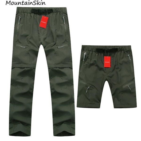 Mountasinskin New Summer Spring Mens Pants Quick Dry Breathing Removable Trousers Military Pants Casual Army Male Clothing LA005-Black-S-JadeMoghul Inc.