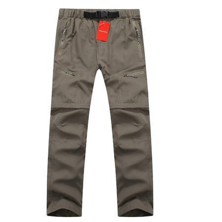 Mountasinskin New Summer Spring Mens Pants Quick Dry Breathing Removable Trousers Military Pants Casual Army Male Clothing LA005-Khaki-S-JadeMoghul Inc.