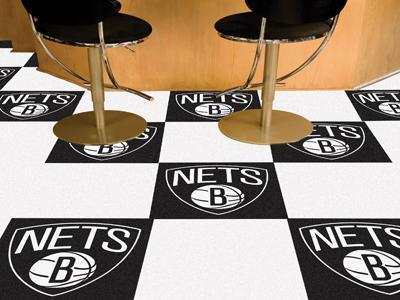 "NBA - Brooklyn Nets 18""x18"" Carpet Tiles-Team Carpet Tiles-JadeMoghul Inc."
