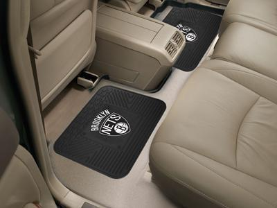 "NBA - Brooklyn Nets 2-pc Utility Car Mat 14""x17""-2 Utility Mats-JadeMoghul Inc."