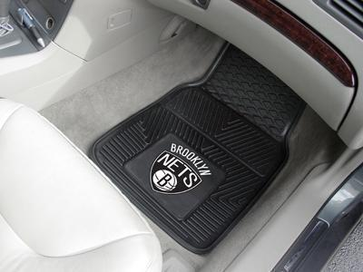 "NBA - Brooklyn Nets 2-pc Vinyl Front Car Mats 17""x27""-2-pc Vinyl Car Mat Set-JadeMoghul Inc."