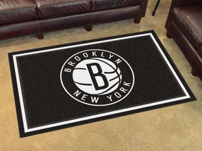 NBA - Brooklyn Nets 4'x6' Plush Rug-4x6 Rug-JadeMoghul Inc.