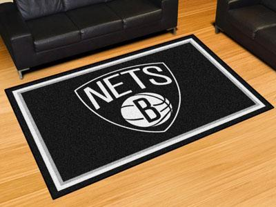 NBA - Brooklyn Nets 5'x8' Plush Rug-5x8 Rug-JadeMoghul Inc.