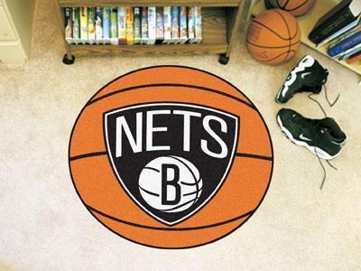 "NBA - Brooklyn Nets Basketball Ball Mat 27"" diameter-Basketball Mat-JadeMoghul Inc."