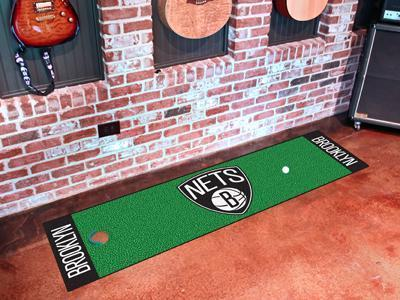 "NBA - Brooklyn Nets Putting Green Runner 18""x72"" - Golf Accessory-Putting Green Mat-JadeMoghul Inc."