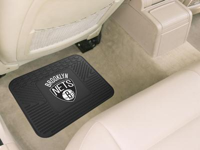"NBA - Brooklyn Nets Utility Car Mat 14""x17""-Utility Mat-JadeMoghul Inc."