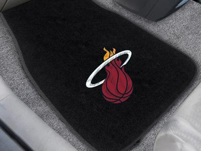 "NBA - Miami Heat 2-pc Embroidered Front Car Mats 18""x27""-2-pc Embroidered Car Mat Set-JadeMoghul Inc."