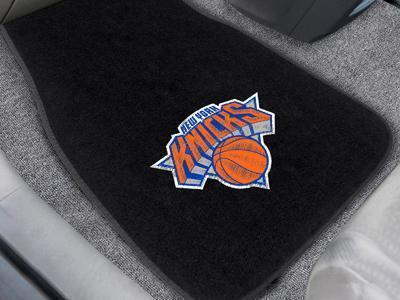 "NBA - New York Knicks 2-pc Embroidered Front Car Mats 18""x27""-2-pc Embroidered Car Mat Set-JadeMoghul Inc."