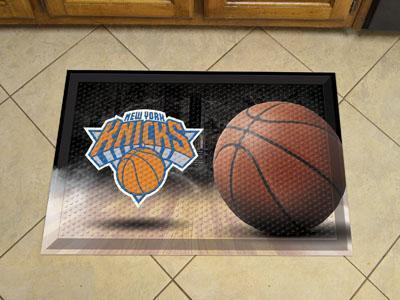"NBA - New York Knicks Scraper Mat 19""x30"" - Ball-Scraper Mat-JadeMoghul Inc."