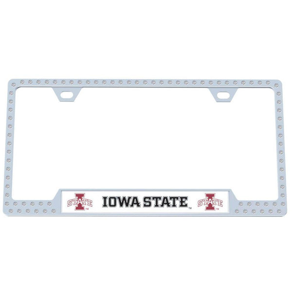 NCAA - Iowa St. Cyclones Bling Tag Frame-Automotive Accessories,Tag Frames,Bling Tag Frames,College Bling Tag Frames-JadeMoghul Inc.
