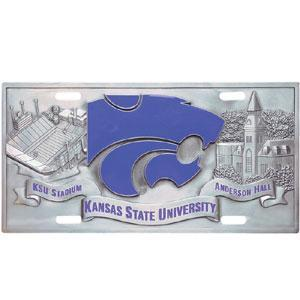 NCAA - Kansas St. Wildcats Collector's License Plate-Automotive Accessories,License Plates,Collector's License Plates,College Collector's License Plates-JadeMoghul Inc.