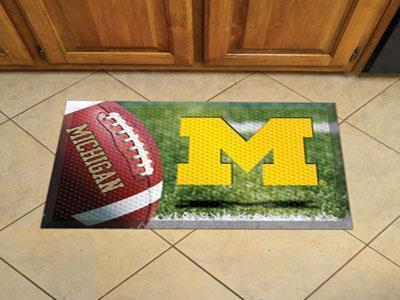 "NCAA - Michigan Scraper Mat 19""x30"" - Ball-Scraper Mat-JadeMoghul Inc."