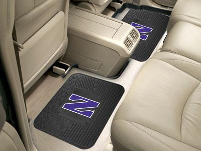 "NCAA - Northwestern 2-pc Utility Car Mat 14""x17""-2 Utility Mats-JadeMoghul Inc."
