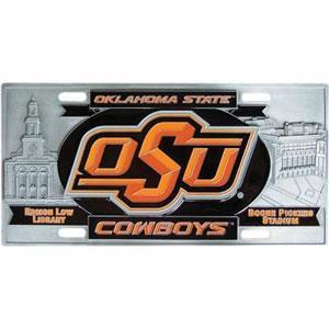 NCAA - Oklahoma State Cowboys Collector's License Plate-Automotive Accessories,License Plates,Collector's License Plates,College Collector's License Plates-JadeMoghul Inc.