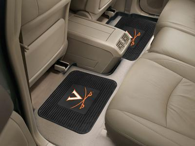 "NCAA - Virginia 2-pc Utility Car Mat 14""x17""-2 Utility Mats-JadeMoghul Inc."