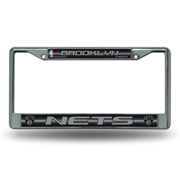 NETS BLING CHROME FRAME-FCGL License Frame (Chrome Glitter)-JadeMoghul Inc.