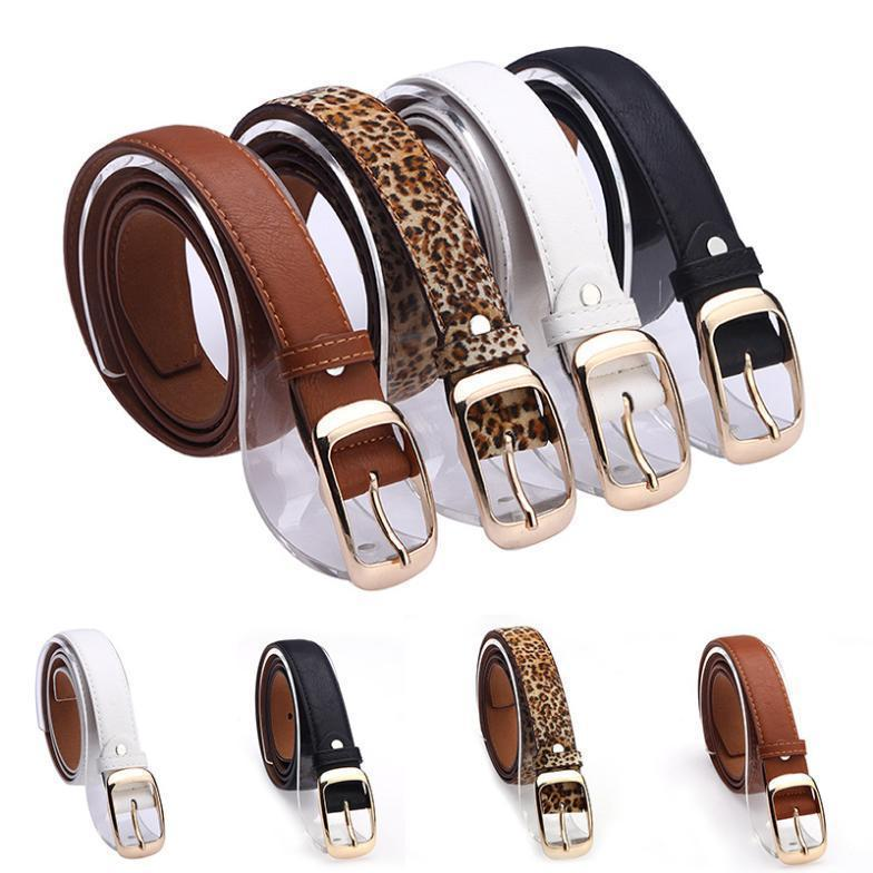 New 2017 Fashion Women Belt Brand Designer Hot Ladies Faux Leather Metal Buckle Straps Girls Fashion Accessories-Black-JadeMoghul Inc.
