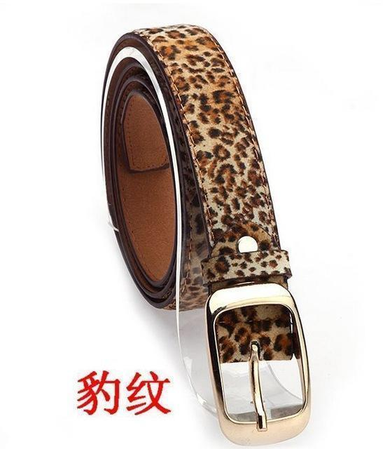 New 2017 Fashion Women Belt Brand Designer Hot Ladies Faux Leather Metal Buckle Straps Girls Fashion Accessories-Leopard-JadeMoghul Inc.