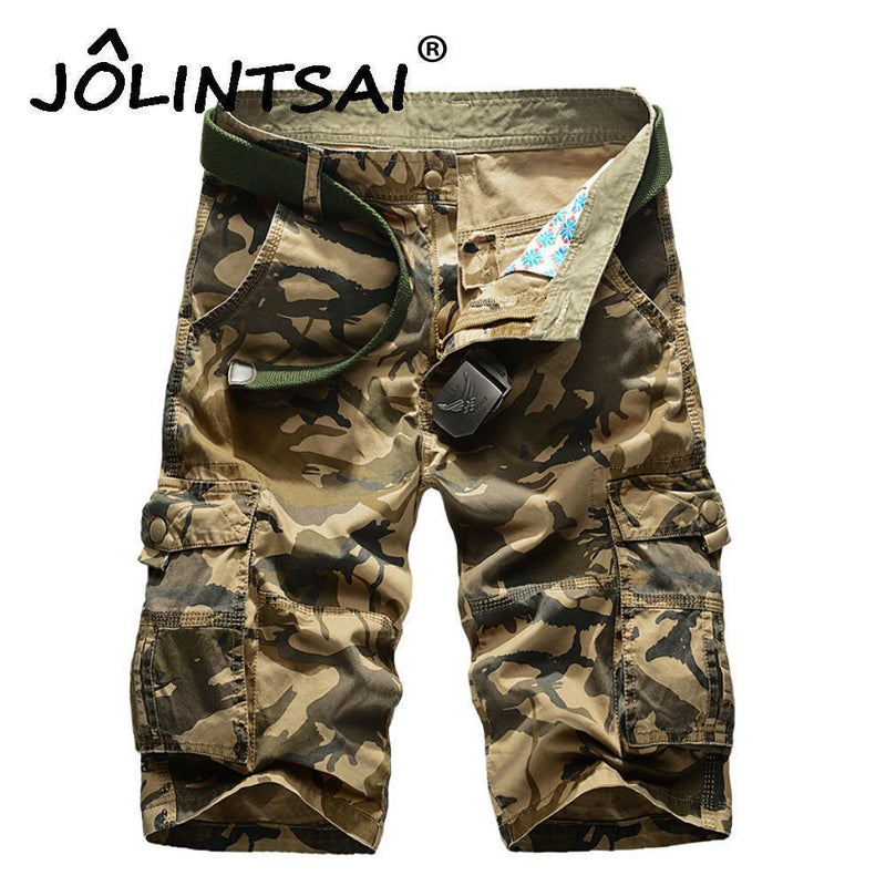 New 2017 Men's Casual Camouflage Shorts Men Loose Cargo Shorts Men Large Size 29-44 Multi-pocket Military Short homme-Green-29-JadeMoghul Inc.