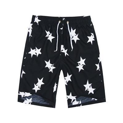 New 2017 Shorts Men Summer Beach Shorts Flower Plaid Stripe Star Many styles Couple suit Wear Causal Tracksuit-double men-L-JadeMoghul Inc.
