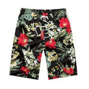 New 2017 Shorts Men Summer Beach Shorts Flower Plaid Stripe Star Many styles Couple suit Wear Causal Tracksuit-red flower men-L-JadeMoghul Inc.