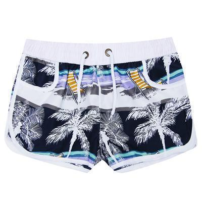 New 2017 Shorts Men Summer Beach Shorts Flower Plaid Stripe Star Many styles Couple suit Wear Causal Tracksuit-sunshine women-L-JadeMoghul Inc.