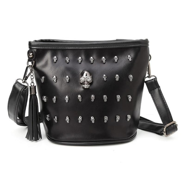 New 2018 Fashion Women Skull Punk Goth Tassel Messenger Shoulder Bag Crossbody Handbag--JadeMoghul Inc.
