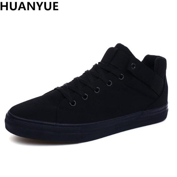 New Arrival 2017 High Quality Men Flats Shoes Breathable Fashion Men Casual Canvas Shoes Zapatos Hombre Mens Flats-black-7-JadeMoghul Inc.