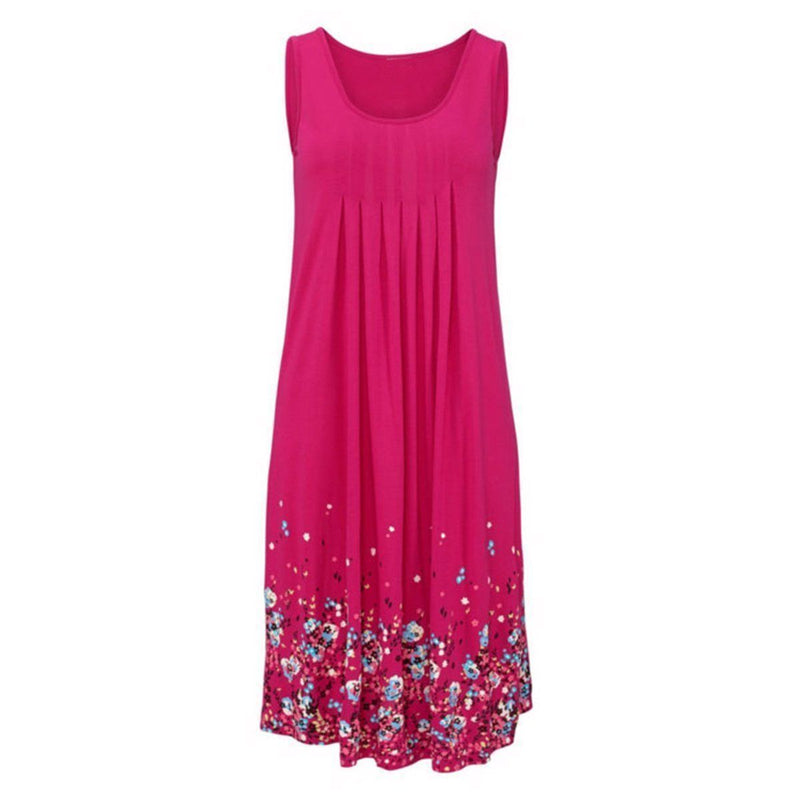 New Arrival Flower Printing Dress For Women-Pink-S-JadeMoghul Inc.