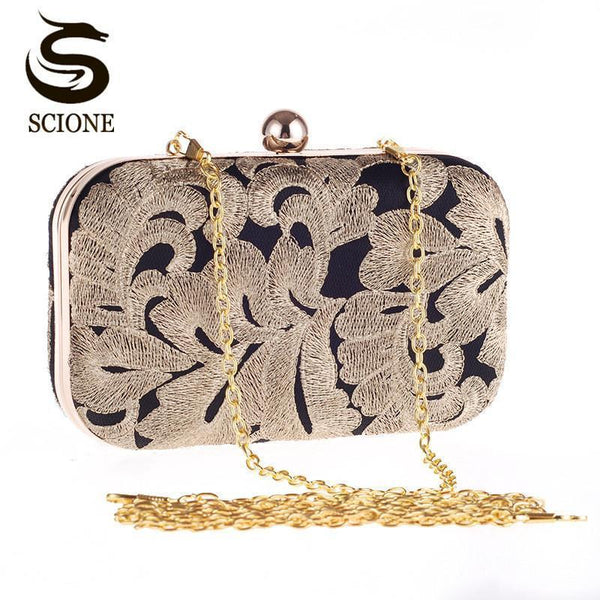 New arrival ladies gold evening bag crystal clutch chain bags high quality diamond wedding bags FREE Shipping in North America flower clutch CJ20--JadeMoghul Inc.