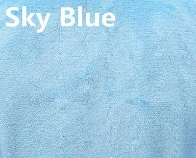 New Arrival Luxury Silk Flannel Winter Spa Bathrobe-Sky Blue-S-JadeMoghul Inc.