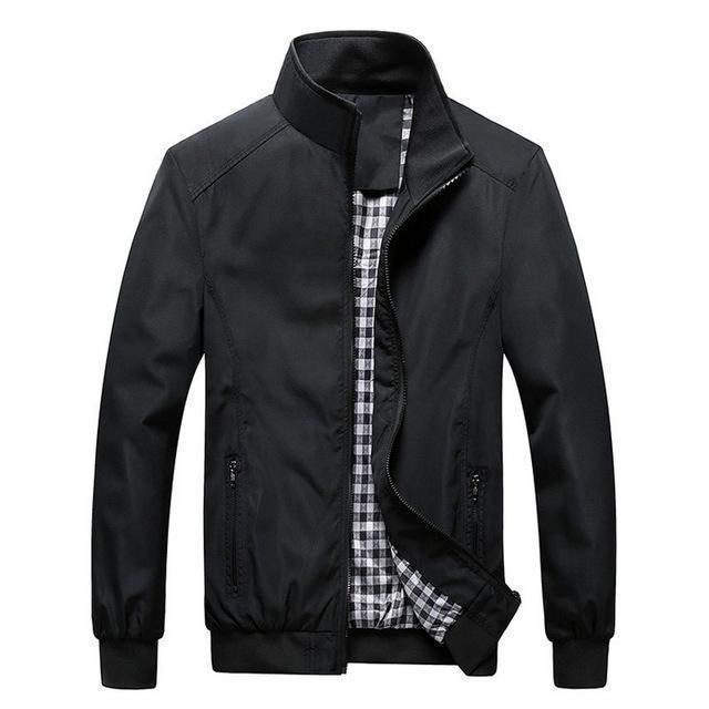 New Arrival Men Spring And Autumn Thin High Quality Jacket-black-M-JadeMoghul Inc.