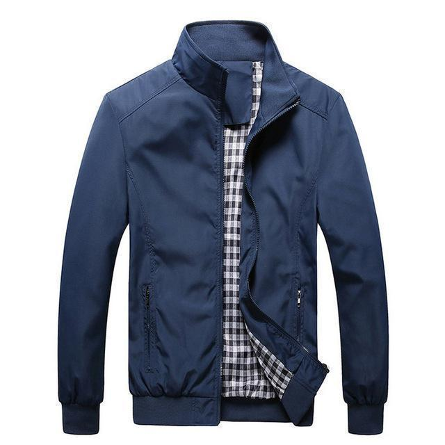 New Arrival Men Spring And Autumn Thin High Quality Jacket-blue-M-JadeMoghul Inc.