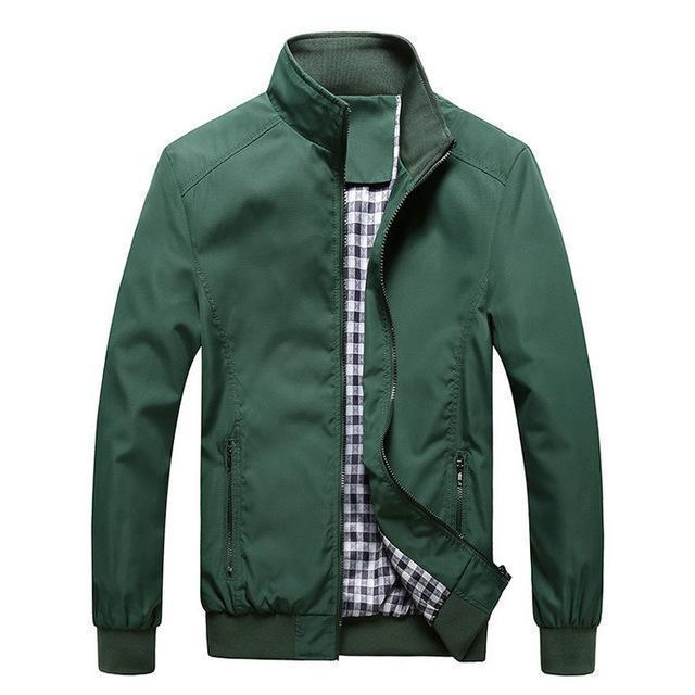 New Arrival Men Spring And Autumn Thin High Quality Jacket-green-M-JadeMoghul Inc.