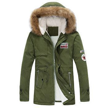 New Arrival Men Thick Warm Winter Down Coat With Fur Collar Army Green-men winter jacket-XXXL-JadeMoghul Inc.