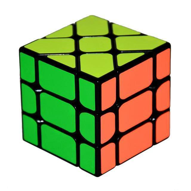 New Arrival YongJun YJ Speed 3X3X3 Fisher Cube Magic Cubes Speed Puzzle Learning Educational Toys For Children Kids cubo magico-Black-JadeMoghul Inc.